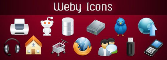 100 Free Icons – Weby Icon Set