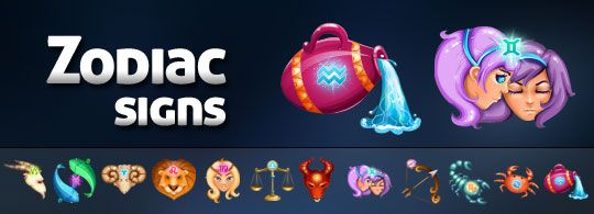 Free Zodiac Signs Icons