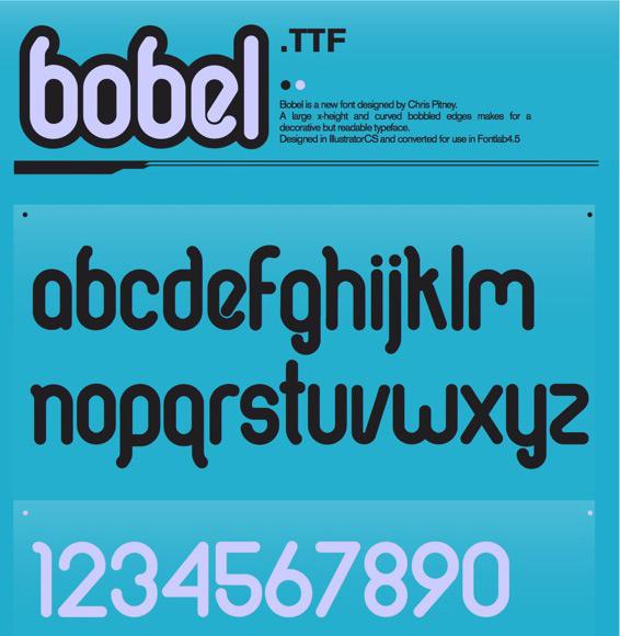 Bobel font