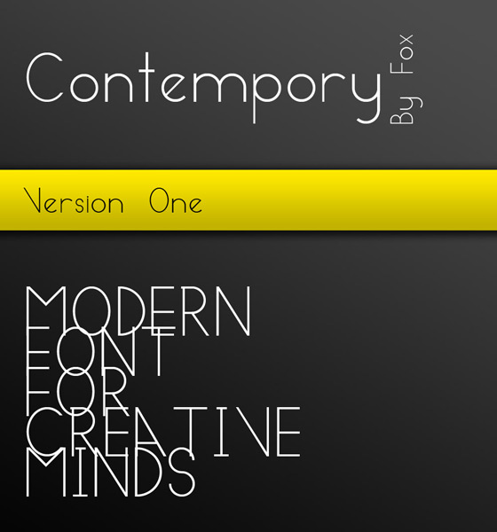 Contempory Modern free font download