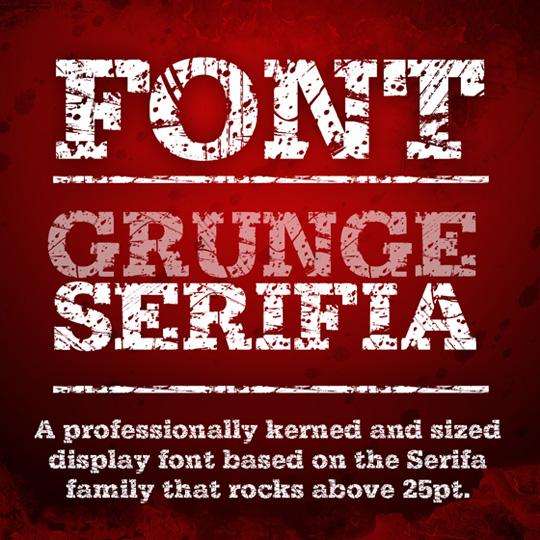 Grunge Serifia free font