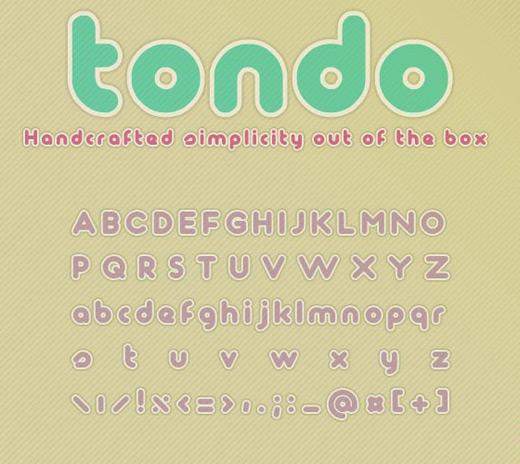 Tondo free font