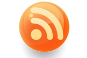 glossy round rss icon