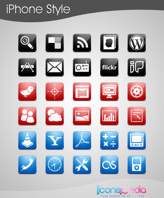 iPhone Style Icons preview