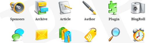 Free Glossy Blogging icons