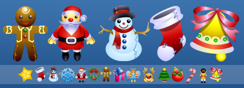 Christmas Dolls Icons