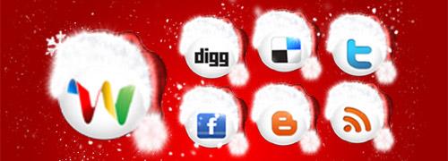 Christmas Social Networks icons