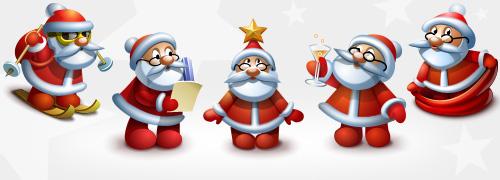 Santa Clauss Icons