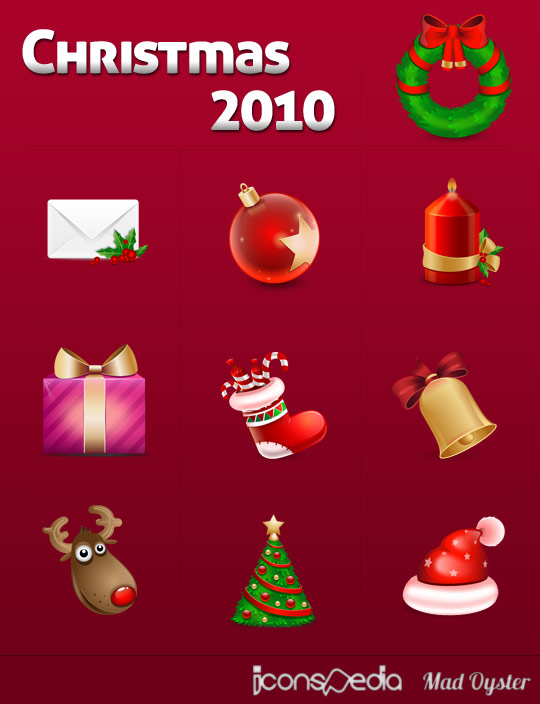 Christmas 2010 Icons by MadOyster