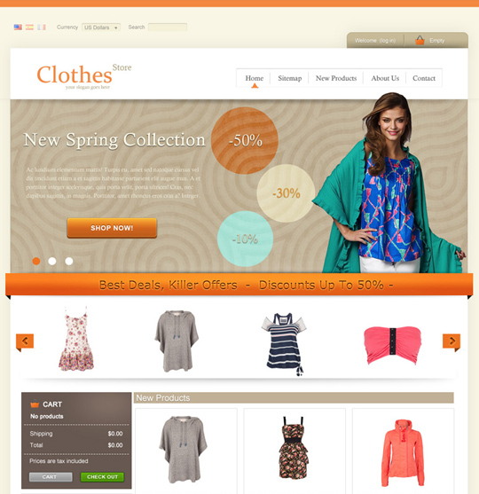 Clothes Prestashop 1.4 theme