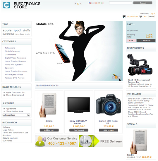 PrestaShop IT shop theme