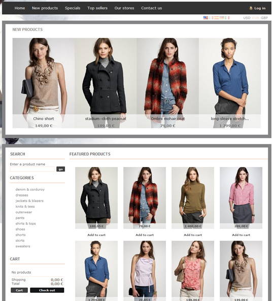 Women Store Prestashop theme
