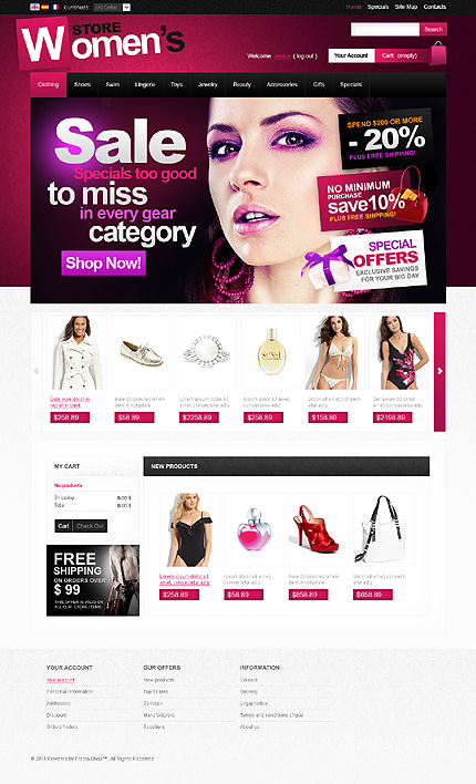 Women's PrestaShop theme