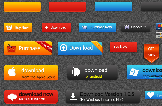Buy & Download PSD buttons
