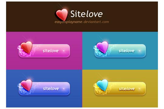 Sitelove PSD buttons