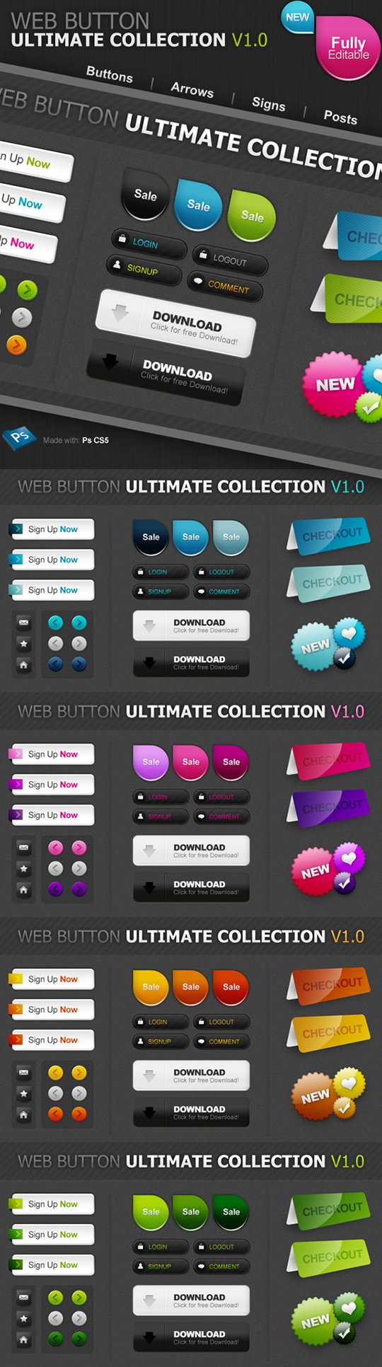 Ultimate button collection