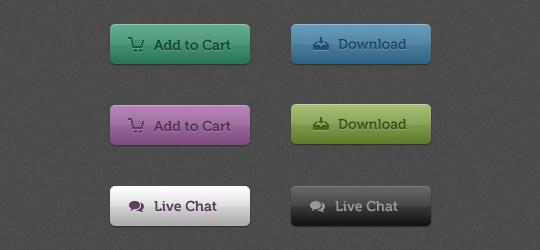 web 2.0 psd buttons