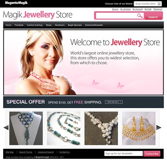 Jewellery Magento Template