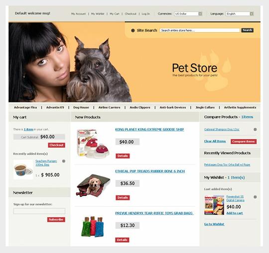 Pet Store Magento Template