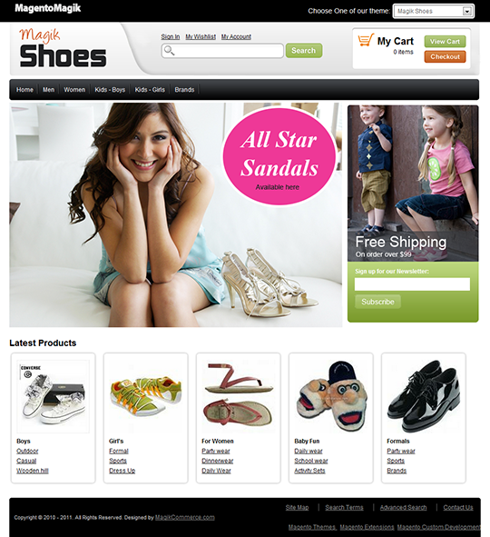 Shoes Magento Template