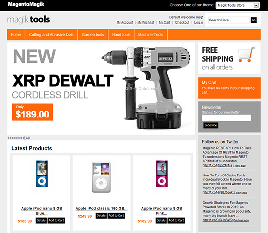 Tool Store Magento Template