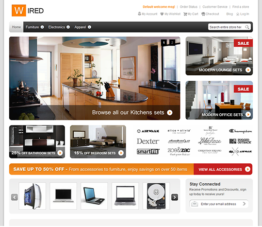 Furniture Magento Template