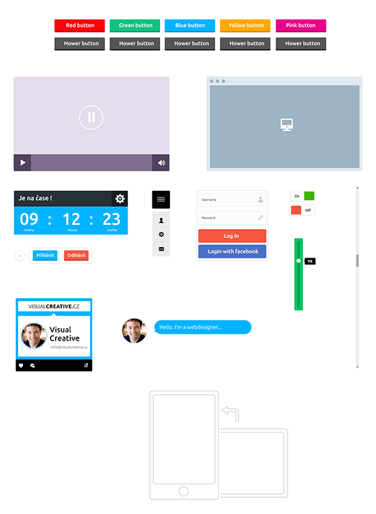 Free Flat UI Kit download